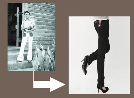 21世纪裤装流行窄腿裤