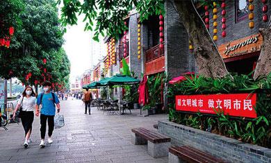 南宁:清明假期文明旅游成风景