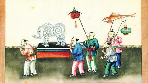 蛟龙号简笔画绘画-民俗画里的文化符号